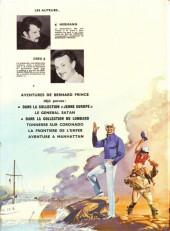 Verso de Bernard Prince -1a'71- Le général Satan