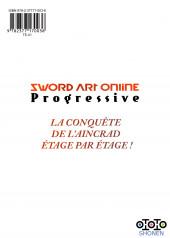Verso de Sword Art Online - Progressive -5- Tome 5