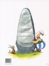 Verso de Astérix -29a2003- La Rose et le Glaive