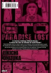 Verso de GTO - Paradise Lost -6- Vol. 6