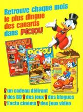 Verso de Picsou Magazine -Rec69- (2e série) Recueil n°69 (n°491 à 493)
