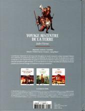 Verso de Les grands Classiques de la littérature en bande dessinée (Glénat/Le Monde) -5- Voyage au Centre de la Terre