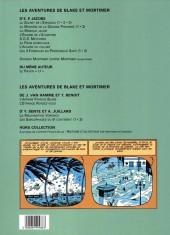 Verso de Blake et Mortimer -8BP France- S.O.S Météores