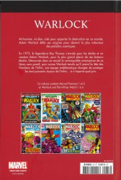 Verso de Marvel Comics : Le meilleur des Super-Héros - La collection (Hachette) -33- Warlock