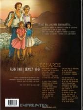 Verso de Secrets - L'écharde -1a- Tome 1