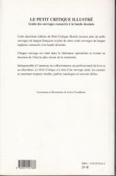Verso de (DOC) Études et essais divers - Le petit critique illustré - Guide des ouvrages consacrés à la bande dessinée