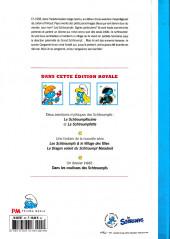 Verso de Les schtroumpfs -HS3- Édition Royale