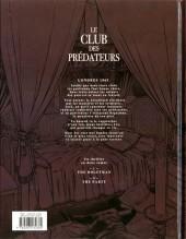 Verso de Le club des prédateurs -2- The party