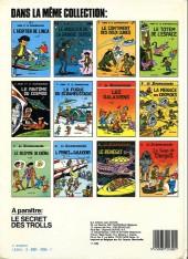 Verso de Le scrameustache -1c83- L'héritier de l'Inca