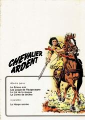 Verso de Chevalier Ardent -1a1972- Le Prince Noir