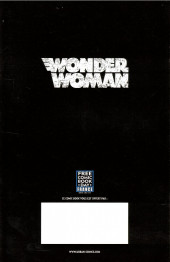 Verso de Wonder Woman Rebirth -FCBD- Wonder Woman Année un