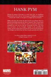 Verso de Marvel Comics : Le meilleur des Super-Héros - La collection (Hachette) -35- Hank pym