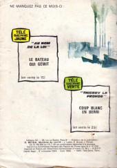 Verso de Télé série bleue (Les hommes volants, Destination Danger, etc.) -22- Destination Danger - L'agent spécial et le détective