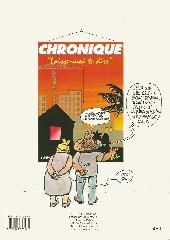 Verso de Chronique -2- Fais ça pour moi