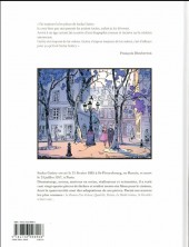 Verso de Sacha Guitry, une vie en bande dessinée