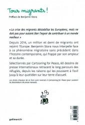 Verso de Cartooning for Peace - Tous migrants