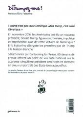 Verso de Cartooning for Peace - DéTrumpez-vous