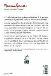 Verso de Cartooning for Peace - Place aux femmes