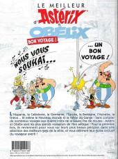 Verso de Astérix (Hors Série) -Pub04- Le Meilleur d'Astérix et Obélix - Bon voyage !