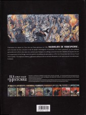 Verso de Ils ont fait l'Histoire -21- Robespierre