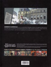 Verso de Ils ont fait l'Histoire -22- Clémenceau