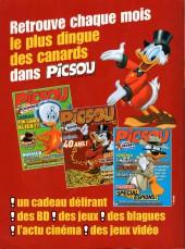 Verso de Picsou Magazine -Rec66- (2e série) Recueil n°69 (n°475-478-479)