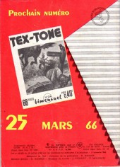 Verso de Tex-Tone -213- Trafic maudit