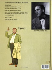 Verso de Blake et Mortimer -3a87- Le Secret de l'Espadon - Tome 3