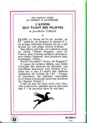 Verso de Tanguy et Laverdure -Roman- L'avion qui tuait ses pilotes