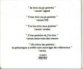 Verso de Illustré (Le Petit) (La Sirène / Soleil Productions / Elcy) - La Pétanque illustrée de A à Z