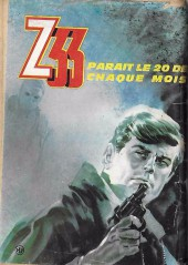 Verso de Z33 agent secret -9- Un train pour l'enfer