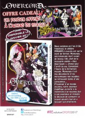 Verso de Overlord -1Extrait- Tome 1