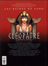 Verso de Les reines de sang - Cléopâtre, la Reine fatale -1- Volume 1