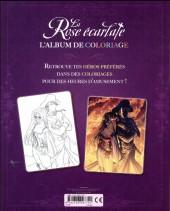 Verso de La rose écarlate -LJ1- Album de coloriage