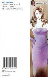 Verso de City Hunter - Nicky Larson -3- L'Actrice aux pieds nus