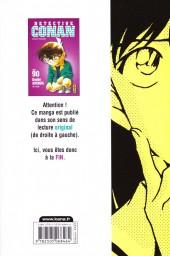 Verso de Détective Conan -90- Tome 90