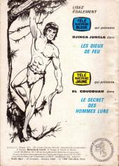 Verso de Télé Série Verte (Thierry la Fronde) -29- Cœur de gris