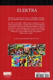 Verso de Marvel Comics : Le meilleur des Super-Héros - La collection (Hachette) -41- Elektra