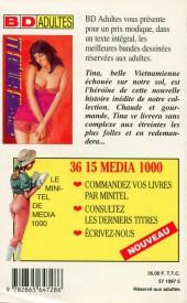 Verso de Confessions érotiques BD (Média 1000) -82- Tina : En débarquant du Vietnam, je suis devenue serveuse dans un salon très spécial...