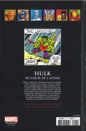 Verso de Marvel Comics - La collection (Hachette) -92XIX- Hulk - Au cœur de l'atome