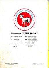 Verso de Petit faon -3'- L'île au trésor - Les trois Mousquetaires - Les Misérables - Trois belles histoires en images