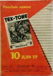 Verso de Tex-Tone -50- Tex-Tone et le marchand malhonnête