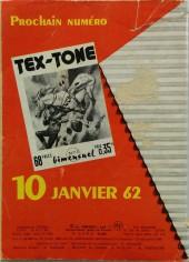 Verso de Tex-Tone -112- Tex-Tone, la mauvaise route