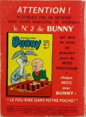 Verso de Bunny (1re Série - Sage) -1- Les cartouches pacifiques