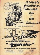 Verso de Kid Colorado -20- Le mystère des bisons