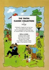 Verso de Tintin (The Adventures of) -4c- Cigars of the Pharaoh