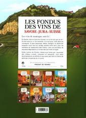 Verso de Les fondus du vin -9- Les fondus des vins du jura savoie suisse