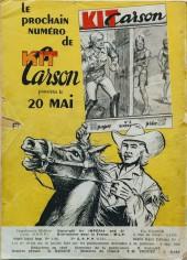 Verso de Kit Carson -3- Kit Carson et la tribu perdue !