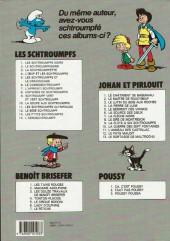 Verso de Johan et Pirlouit -9c1991- La flûte à six schtroumpfs