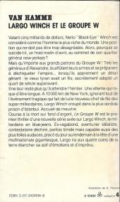 Verso de (AUT) Van Hamme - Largo Winch et le groupe W